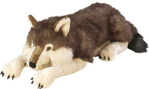 Wild Republic Jumbo Wolf Plush Giant Stuffed Animal Plush Toy Gifts for Kids 30 Inches