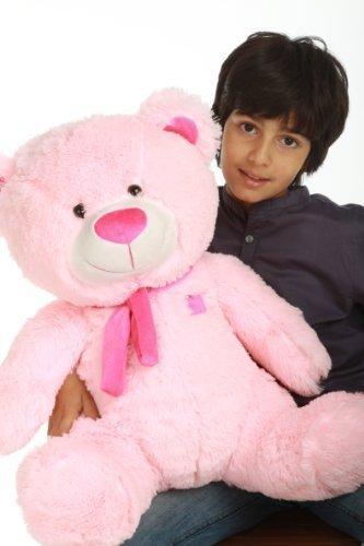 Lulu Shags - 27 - Tubby Bellied Extra Huggable GIANT TEDDY Brilliant Pink Plush Teddy Bear
