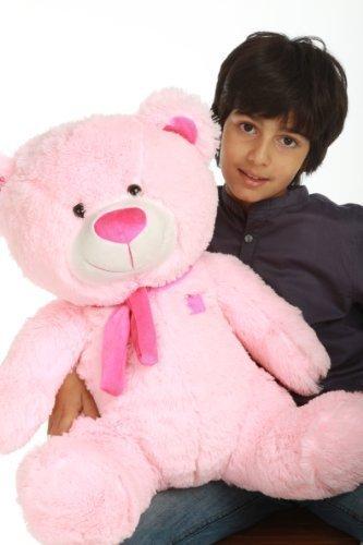 Lulu Shags - 27 - Tubby Bellied Extra Huggable GIANT TEDDY Brilliant Pink Plush Teddy Bear by GIANT TEDDY