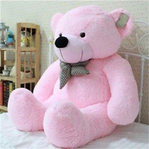 Stuffed Giant 95CM Big Pink Plush Teddy Bear Huge 100 Cotton Doll