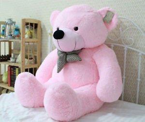 Toy Bow Stuffed Giant 100CM Big Pink Plush Teddy Bear Huge Soft Cotton Doll