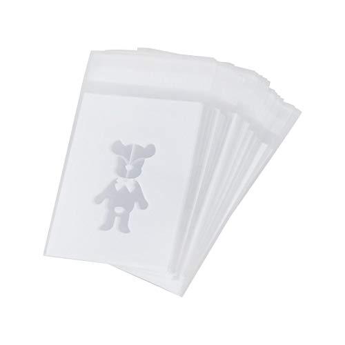 Gugulove 100pcs Bag White Teddy Bear Candy Cookies Gift - Bear Bag Pack Bear Teddy Pendant Bag Supplies Bag Gift Bear Bags Plush Bear Plush Jumpsuit Bear Bag Bear Duffy