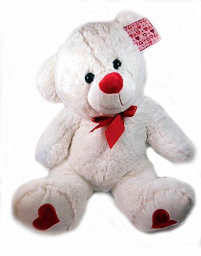 Valentines Day 20 White Plush Bear