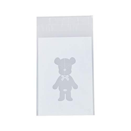 White Plush Bear - 100pcs Bag White Teddy Bear Candy Cookies Gift - Bear Bag Pack Bear Teddy Pendant Bag Supplies Bag Gift Bear Bags Plush Bear Plush Jumpsuit Bear Bag Bear Duffy