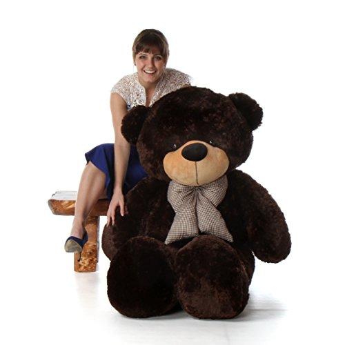 5 Foot Life Size Teddy Bear Rich Dark Brown Color Plush Stuffed Toy Brownie Cuddles