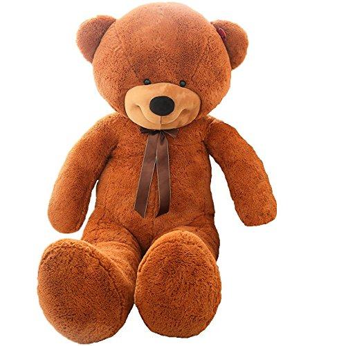 Giant 63 Stuffed Dark Brown Teddy Bear Toy
