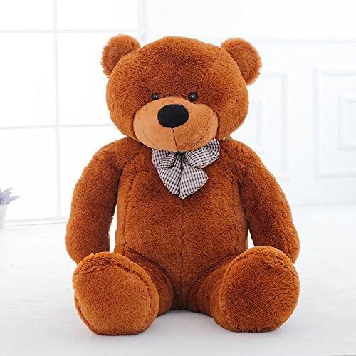 MorisMos Plush Stuffed Animals Giant Cute Teddy Bear for Children Girlfriend 55 14M Dark Brown