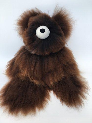 Plush Alpaca Fur Dark Brown Teddy Bear Peluches