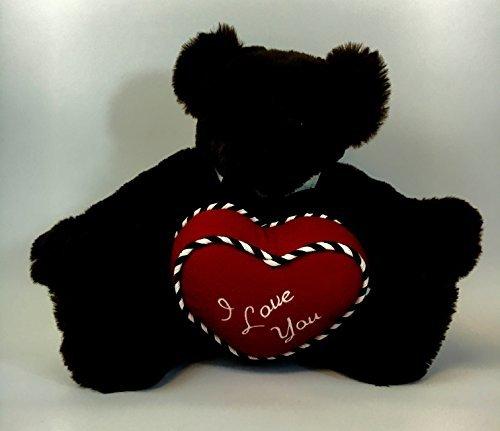 Vermont Teddy Bear Romantic at Heart I Love You Dark Brown Teddy Bear 15