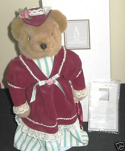 Avon Victorian Teddy 1995 Collectible Teddy Bear