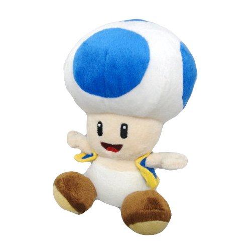Nintendo Official Super Mario Blue Toad Plush 6