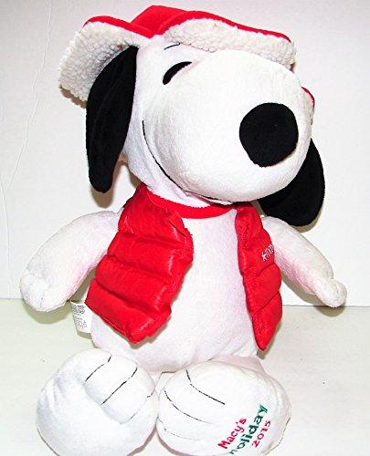 JUMBO PLUSH SNOOPY Peanuts Beagle Dog Red Jacket Macys 2015 Stuffed Animal Toy 18