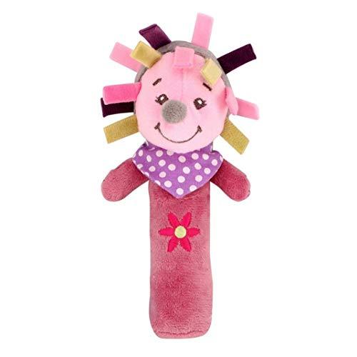 Difcuy Baby Infant Toddler Childrens Toys, Birthday GiftsPlush Donkey Animal Baby Hand Shake Bell BB Rattle Squeaker Stick Education Toy - Hedgehog
