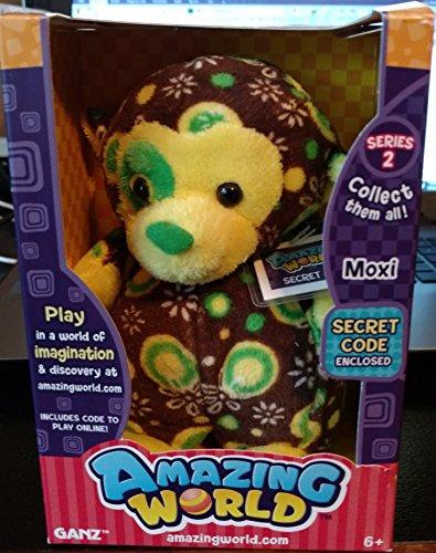 Amazing World Series 2 Moxi the Monkey Interactive Plush Toy - 55