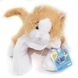 Webkinz Cat Orange Gold White - 1st Edition - No W on Paw Toy