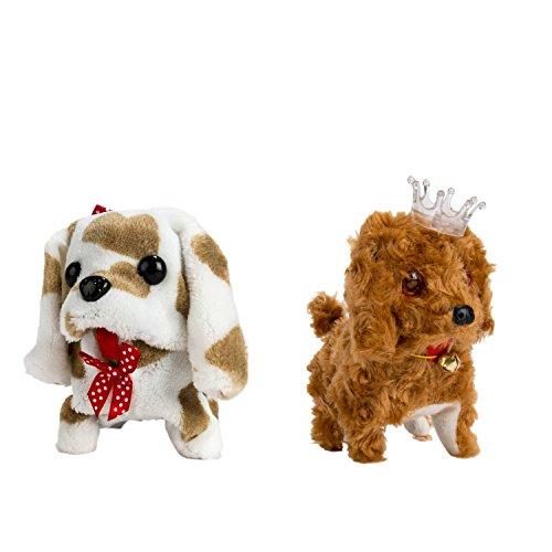 2PCS Christmas Gift for Child Plush Interactive Puppy Dog Toy Walking Barking Pet Kids Pet Toy C