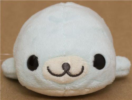 kawaii Mamegoma light blue seal plush toy by San-X
