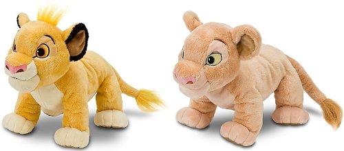 Disney Store The Lion King 13 Simba and Nala Plush Stuffed Animal Toy Set
