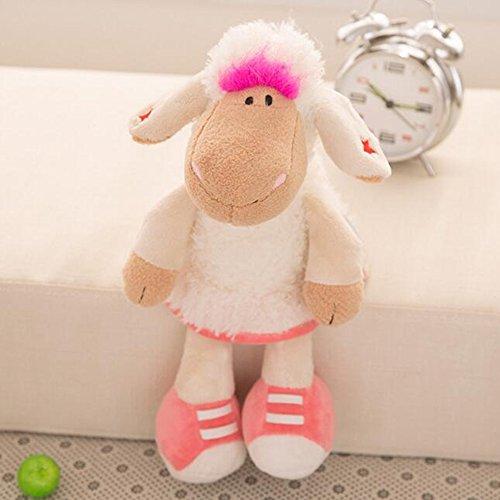Dongcrystal 157 Pink Plush Sheep Stuffed Animal Alpaca Toy