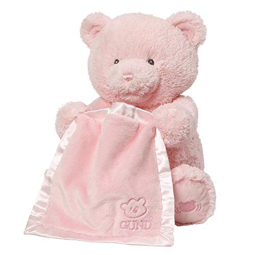 Baby GUND My First Teddy Bear Peek A Boo Animated Stuffed Animal Plush Pink 115