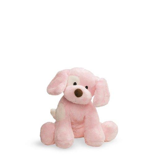 Baby GUND Spunky Dog Stuffed Animal Sound Plush Pink 8