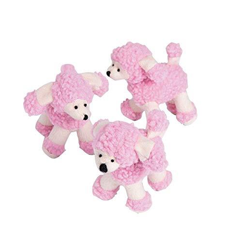 Plush Pink Poodles set of 12 stuffed animal toys