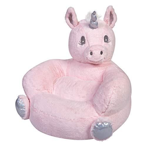 Trend Lab Childrens Plush Pink Unicorn Character Chair