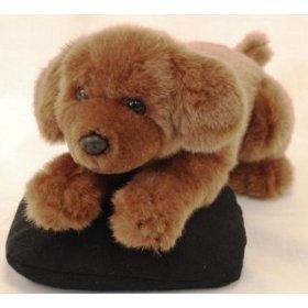 Jaag Plush Lying Chocolate Lab Puppy
