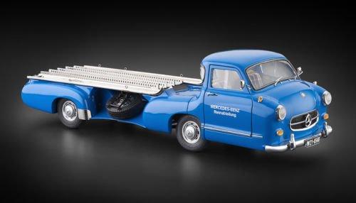 CMC-Classic Model Cars 1955 Mercedes-Benz Racing Transporter Blue Wonder