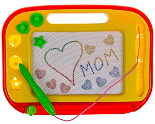 Magnetic Drawing Board - Red Yellow Erasable Magna Doodle Pad Pro for Kids Toddlers - WritingScribbleSketchDraft Pad Tablet