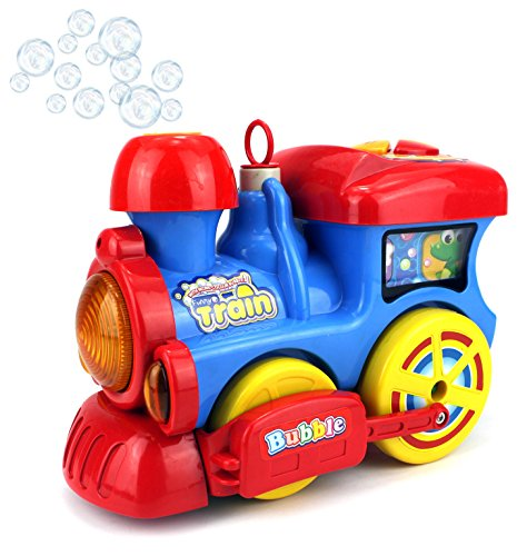 Miracle Bubble Train Battery Operated Bubble Blowing Children Kids Bump and Go Toy Train w Cool Flashing Lights Sounds