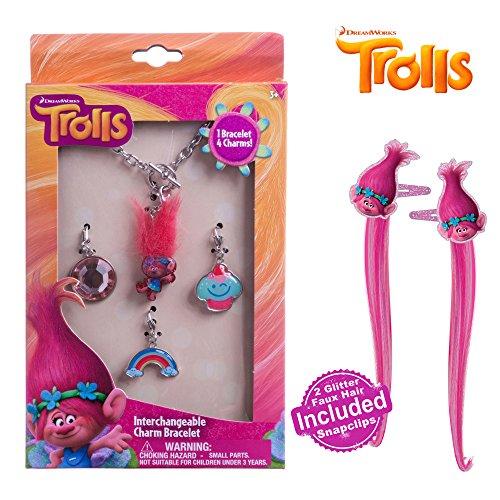 Dreamworks Trolls Girls Add A Charm Bracelet Silver Chain Charm Bracelet Charms