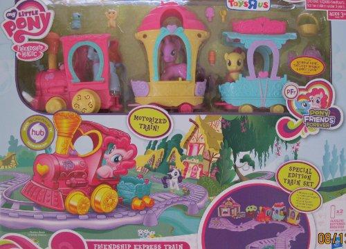 My Little Pony MOTORIZED FRIENDSHIP EXPRESS TRAIN AROUND TOWN Playset w 3 Figures 4 Animals More
