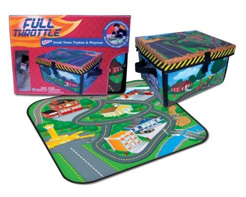Neat-Oh ZipBin Full Throttle Small Town 220 Car Toy Box Playset w 1 Car