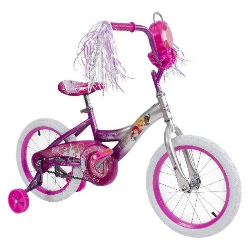 Disney Princess 16 Inch Girls Bike with Jewel Storage Case - Pink