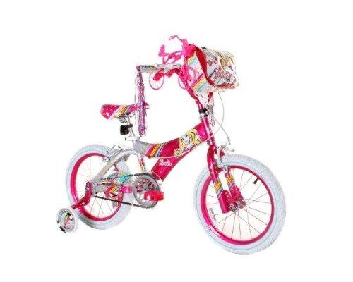 DynaCraft Girls Barbie Bike PinkWhite 16-Inch