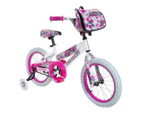 Dynacraft 8054-65TJ Decoy Girls Camo Bike 16-Inch WhitePinkBlack