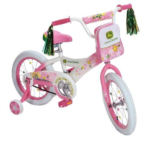 John Deere 16 Girls Bike Pink