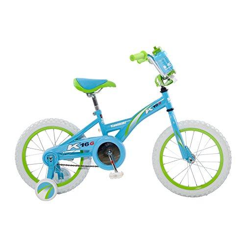 Kawasaki Monocoque Kids Bike 16 inch Wheels 11 inch Frame Girls Bike Blue