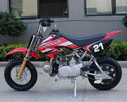 EASY TO USE CONTROLS High Quality Youth Dirt Bike wSemi Automatic APOLLO 70cc Mini Dirt Bike HONDA XR50 CLONE