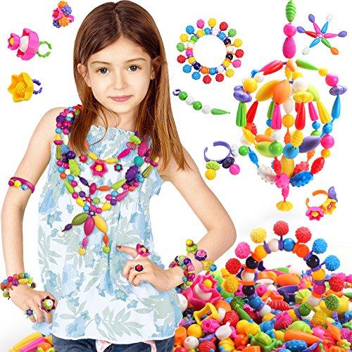 BIBNice Pop Beads Set DIY Jewelry Kit for Girls Necklace and Bracelet240 PCS