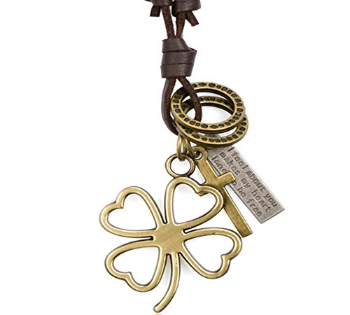 Fashion FM Vintage Pendant Luck Clover Girls Necklaces
