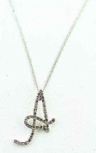 Initial Cursive Letter A Fashion Necklace A