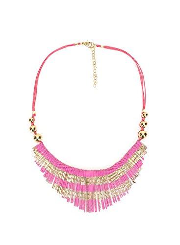 LF7 Womens Bohemia Tribal Aztec Dangle Fashion Necklace