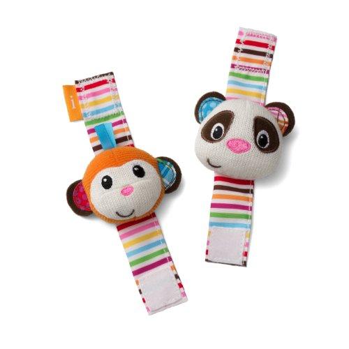 Infantino Wrist Rattles Monkey and Panda