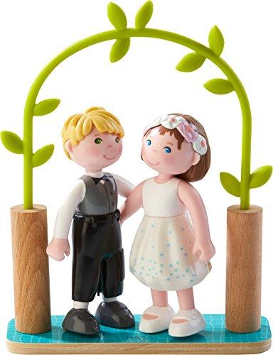 HABA Little Friends 4 Bride Groom - Wedding Play Set - Great for Flower Girls Ring Bearers