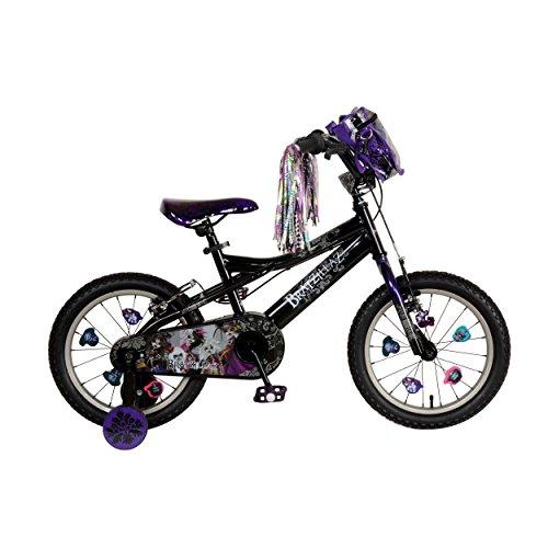 Bratz Kids Bike 16 inch Wheels 11 inch Frame Girls Bike BlackPurple