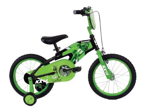 Kawasaki Monocoque Kids Bike 16 inch Wheels 11 inch Frame Boys Bike BlackGreen