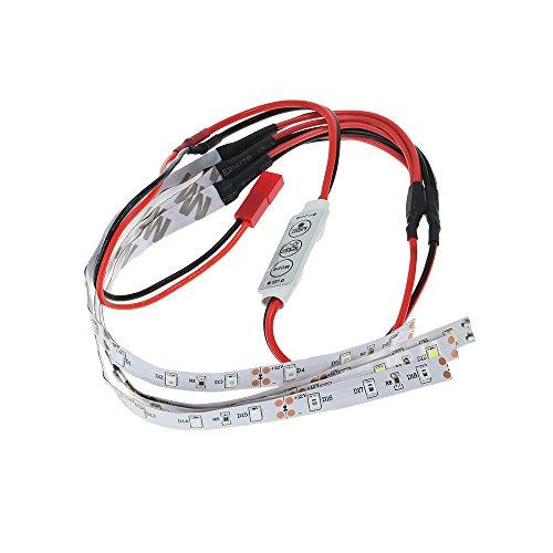 GoolRC LED Navigation Light Strip for RC Quadcopter Multirotors Red White