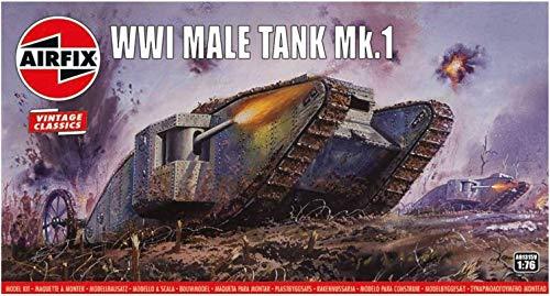 Airfix WWI Male Tank MK I 176 Vintage Classics Military Plastic Model Kit A01315V